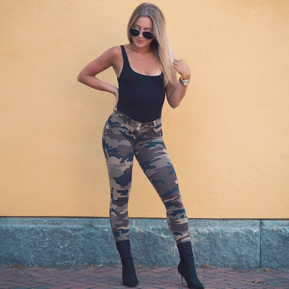 Melody Four Ways Stretchable Pants Push Up Leggings Summer Autumn Women Camoufage Leggings Femme Butt Lifting Long Pants