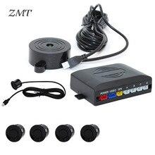 цена на Parktronic Sensor LED Reverse Radar Car Parking Alarm System Beep Reverse Thunder Car Detector Reversing Radar 4 Probe