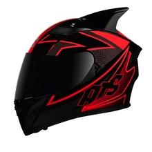 Full FaceหมวกนิรภัยCasco Moto Capaceteรถจักรยานยนต์Kask Casque Moto Full Face Kask Downhill DOTได้รับการอนุมัติ