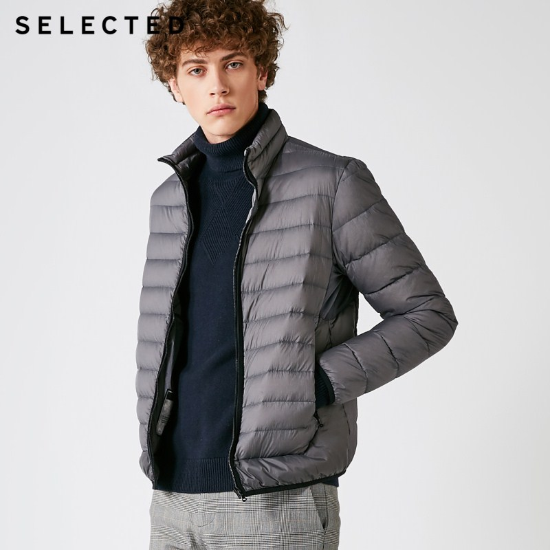 SELECTED Winter Down Jacket New Warm Clothes Men's Business Leisure Light Short Down Coat Suit S | 418412559
