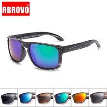 RBROVO-gafas De Sol De imitación De madera para mujer, diseño De marca femeninos con anteojos De Sol, con patas De madera, reflectantes, 2021