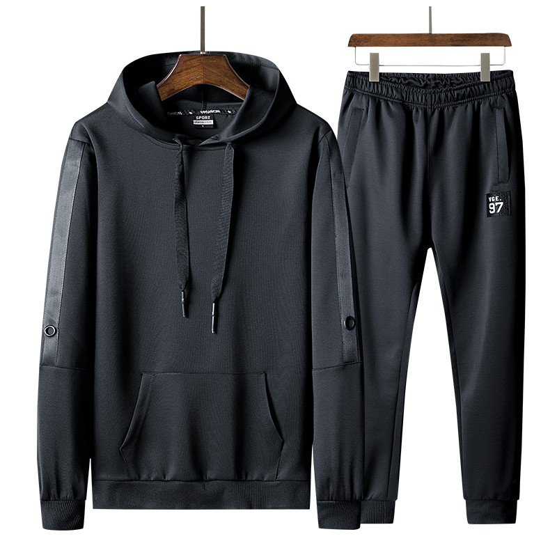 Men's Sportswear Tracksuit Spring Autumn Mens Jogging Suits Two PCS Sweatshirt +Sweatpants New Male Fashion Trend Hooded Sets
