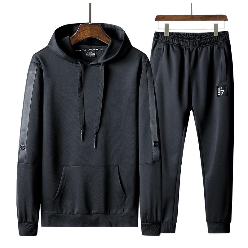 Men's Sportswear Tracksuit Spring Autumn Mens Jogging Suits Two PCS Sweatshirt +Sweatpants New Male Fashion Trend Hooded Sets
