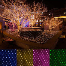 Urlaub Festival 1,5X1,5 M Garten Lampe String Licht 10 Farben 2X3M 220V Dekoration Led net Lichter Weihnachten Multi Outdoor-Fee(China)