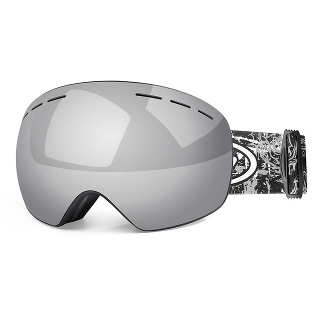 Details about  /Unisex Double Lens UV400 Anti-fog Ski Snowboard Skiing Glasses with Case