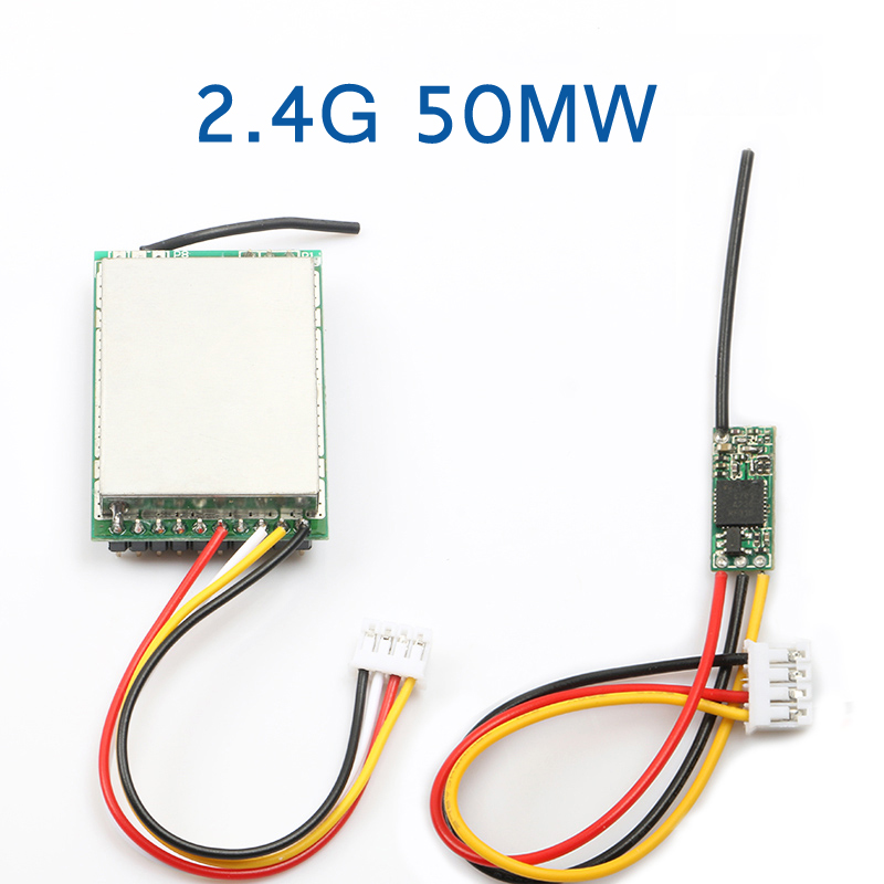2.4G 50MW Image Transmission Wireless Video Transmitting And Receiving Module Ultra-small Board 3.7V-5V Parts For FPV
