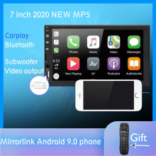 "2 din Auto radio 7 ""HD pantalla táctil reproductor de Android Auto Carplay Multimedia MP5 FM/USB/AUX/Bluetooth de Audio de coche para la parte trasera de la cámara(China)"