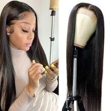 Peruca dianteira do laço reto peruano 6x6 peruca de fechamento 30 polegada peruca 13x6 peruca dianteira do laço alianna remy perucas do cabelo humano pré arrancadas