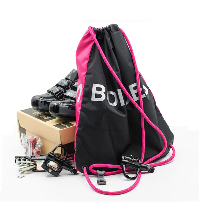 CamKpell Universal Drawstring Bag Bright Color Schoolbag PE Gym Sports Backpack Swim Bag Multi-Functional Drawstring Bag with Zipper Blue