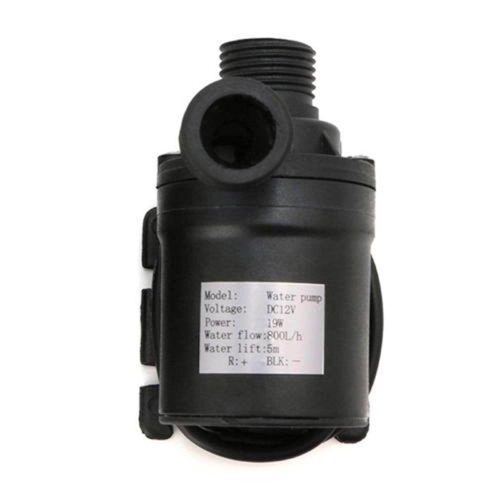 Ultra Quiet Mini DC12/24V 800L/H Brushless Motor Submersible Water Pump Electric Heat Resistant