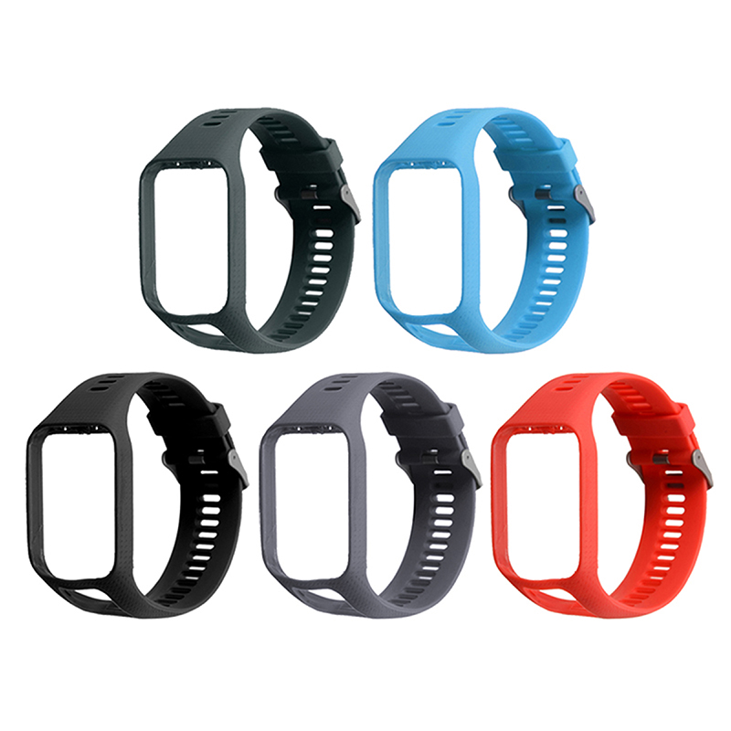 Silicone Replacement Watch Band Strap Frame For TomTom Runner 2/Spark 3 Soft Durable Watchbands For TomTom Spark 3 Music