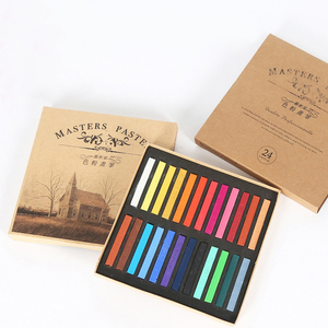 Crayons Soft Dry Pastel 12/24/36/48 Colors/Set Art Drawing Set Chalk Color Crayon Brush Stationery for Students Art Supplies(China)
