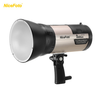 NiceFoto Outdoor Studio Flash Strobe Light 2.4G Wireless 500 Times Full Power Flash with Carry Bag for Photography Lighting