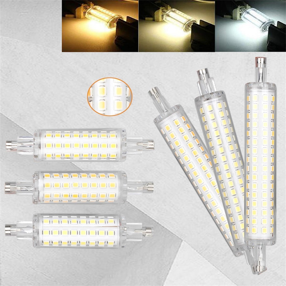 R7S No Flicker 78mm 118mm  Lamparas Led Lamp SMD 2835 64 128 Leds 5W 10W Spotlight Replace Halogen Floodlight AC 220V 110V