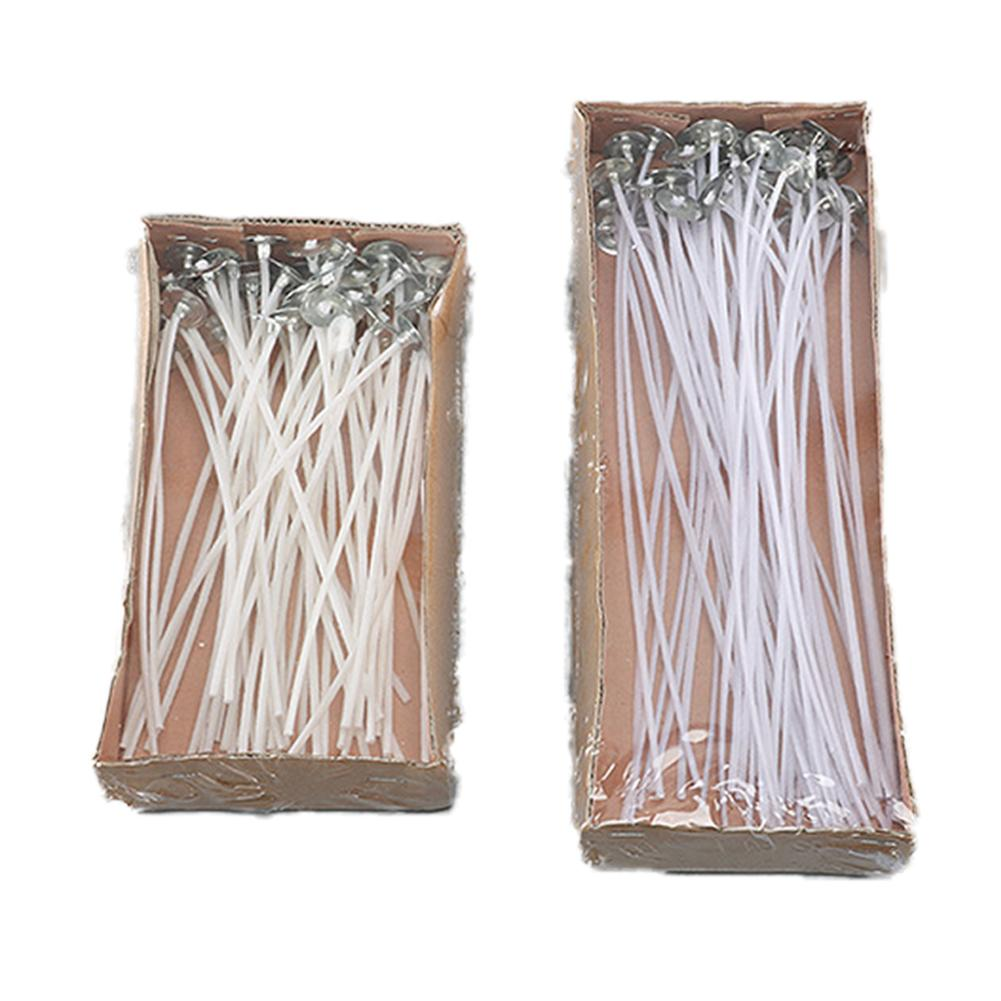 50Pcs/set DIY Candle Wick Core Pre Waxed With Sustainers Cotton Coreless Cotton Making Material DIY Candle Making Tools