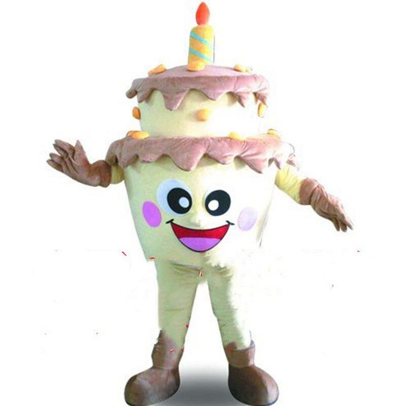 Gâteau d'anniversaire mascotte Costume costumes Cosplay partie jeu déguisements tenues publicité Promotion carnaval Halloween Parade adultes