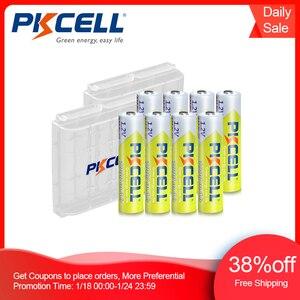 Image 1 - 8 adet PKCELL AAA pil 1.2V Ni MH AAA şarj edilebilir pil 1000MAH piller 3A Bateria Baterias 2 adet AAA/AA pil tutucu