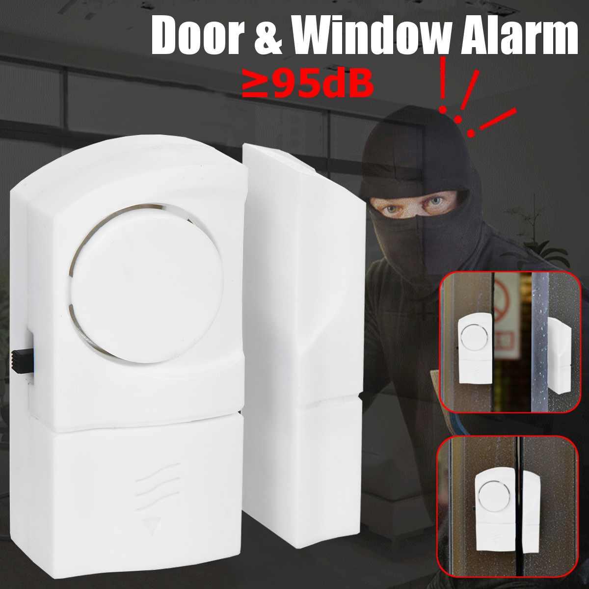 10Pcs 90dB Safety Alarm System Standalone Magnetic Sensors Wireless Home Door Window Entry Burglar Alarm Security Alarm