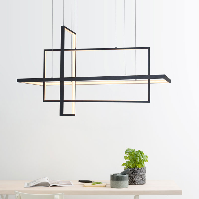 Umeiluce Modern Chandelier Lights <font><b>Led</b></font> Hanging Lamp Dining Fixture Geometric <font><b>Bar</b></font> <font><b>Counter</b></font> Lighting for Living Bed Room Loft Stairs image