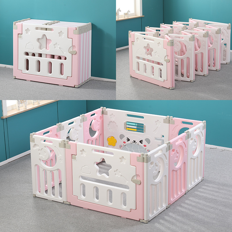 Children's Folding Game Fence Baby Plastic Safety Household Crawling Infant Indoor Playground Guard Playren