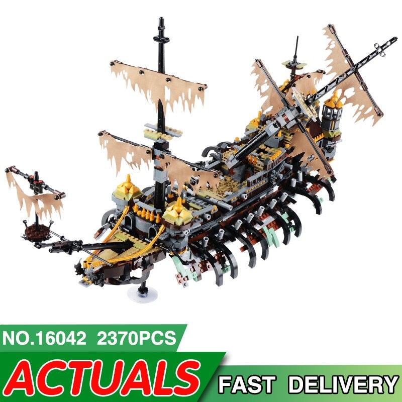 16042 Pirate Ship Serie LegoEAS Compatibile 71042 Slient Mary Set Model Kit di Costruzione di Blocchi di Mattoni Educativi Giocattoli Per Bambini Regali-in Blocchi da Giocattoli e hobby su  Gruppo 1