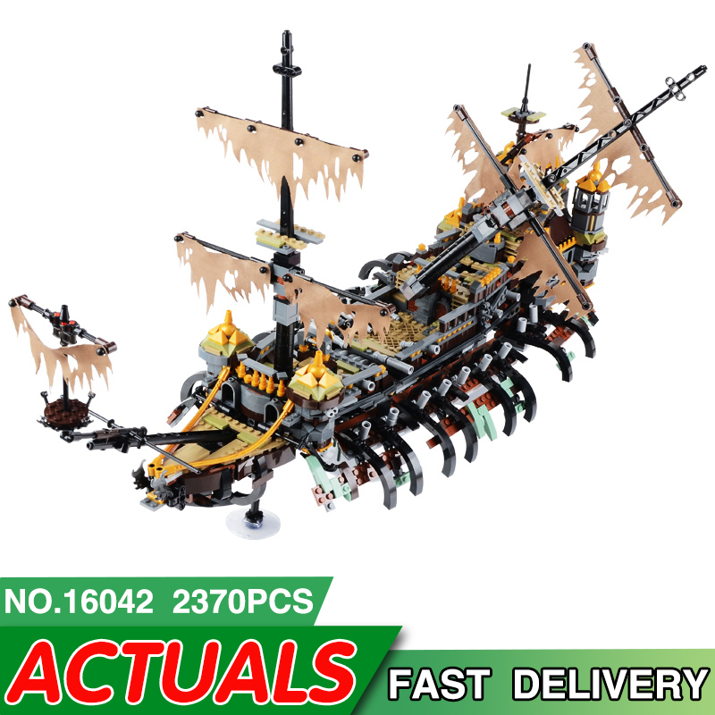 16042 Pirate Ship Series LegoEAS Compatible 71042 Slient Mary Set Model Kit Building Blocks Educational Bricks Kids Toys Gifts-in Blocks from Toys & Hobbies    1