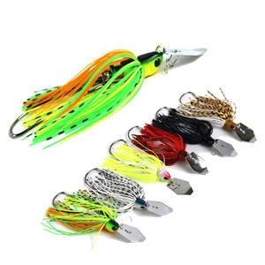 Spinner Bait Wobbler Fishing-Lure Walleye Artificial Bass Pike for 20g Rubber-Skirt Isca