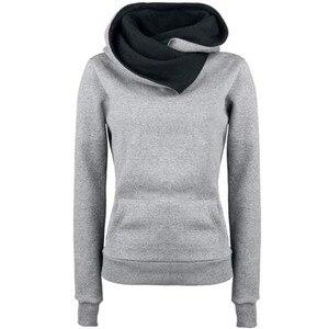 40#Women Long Sleeve Hoodies Sweatshirt Hooded Cotton Pullover Solid Elegant Hoodie Pocket Elegant Plus Size Daily Tee Tops