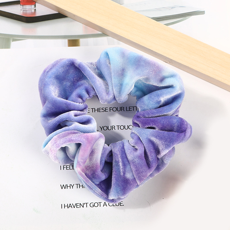 Women Elastic Hair Bands Soft Velvet Hair Scrunchie Ponytail Donut Grip Loop Holder Stretchy Hair Band Women Hair Accessories