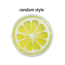 Summer Portable Mini Physiotherapy PVC Cooler Bag Cute Cartoon Round Shape Bright Colored Fruit Cold Compress Ice Pack Gel