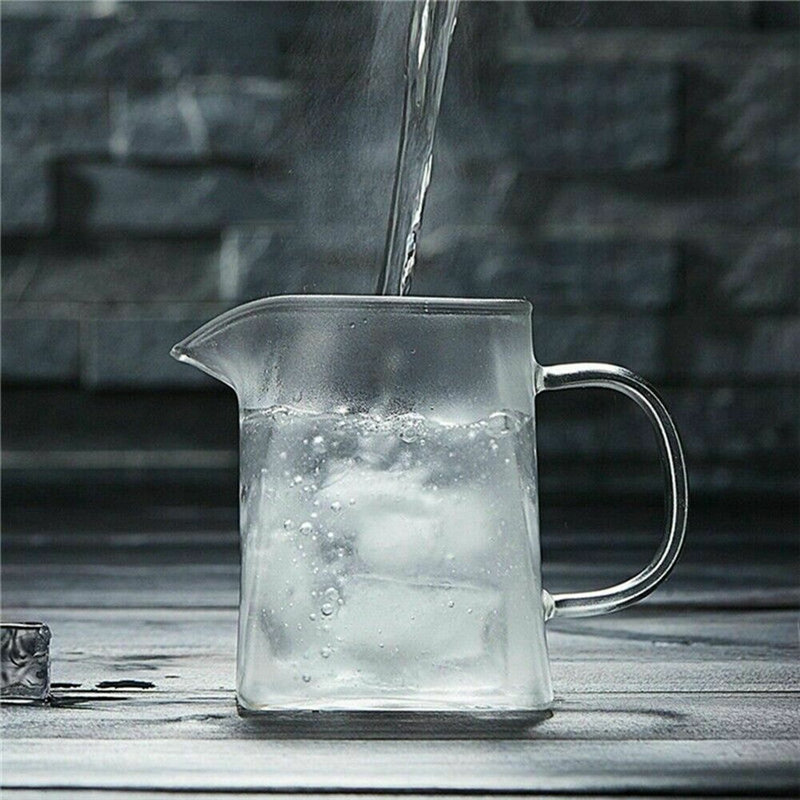 350-750ML Clear Heat Resistant Clear Glass Teapot Jug W Infuser Coffee Tea Leaf Herbal Pot Flower Teapot Milk Juice Container 5