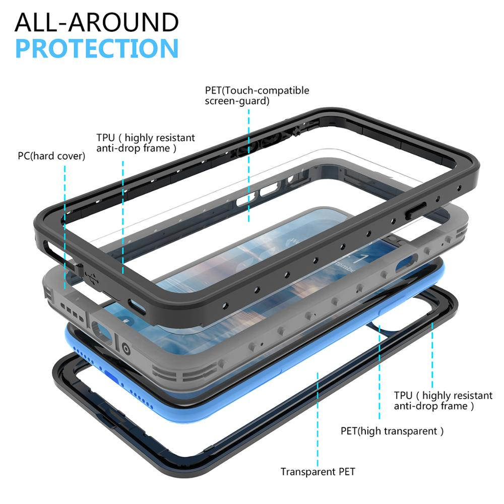 Image 3 - For iPhone 11 11 pro Max Case IP68 Waterproof 360 Degree 