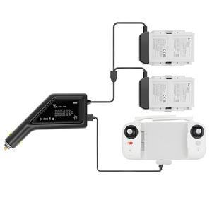 Image 3 - מטען לרכב סוללה בקר חיצוני מהיר רכב USB יציאת טעינה באותו הזמן מתאם מחבר עבור XIAOMI FIMI X8 SE אבזרים