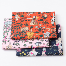 100%cotton Poplin fabric for dress Alice cute girl printed cloth DIY Clothes bedding set handmade sewing patchwork