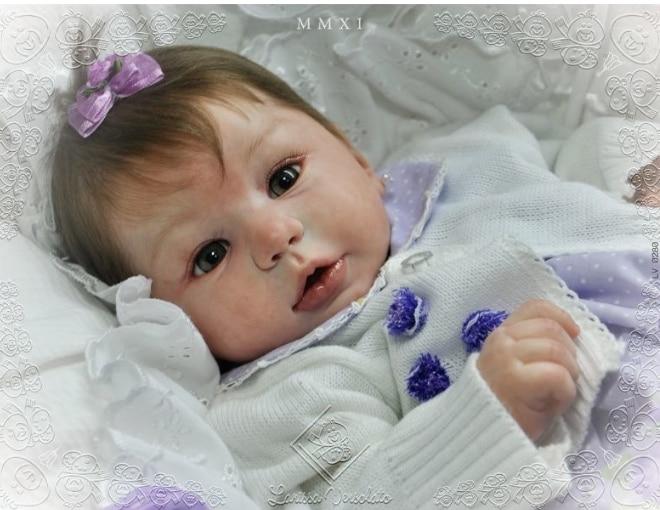 Kit Reborn Dolls Unpainted Doll Parts  NPK DIY Silicone Vinyl Reborn Baby Doll Bebe Reborn For 22'' Silicone Baby Dolls Kit