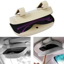 Glasses Car Holder Magnetic Car Sun Visor Glasses Case Organizer Glasses Storage Box Holder Visor Sunshade Auto Accessories
