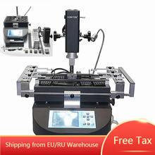 Honton bga retrabalho máquina ht r490 retrabalho estação de solda com controle temperatura independente e ferramentas solda