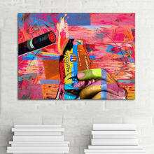 RELIABLI ART Colorful Smoking Poster Graffiti Pictures Canvas Painting Posters And Prints Wall Art For Living Room Decoration graffiti art colorful rain prints on canvas modern canvas painting wall art posters and prints for living room home decoration