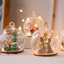 New Christmas Ball Ornament Glass Xmas Clear Decoration Ornamen Wedding Party Decor Pendant 7 x 8cm