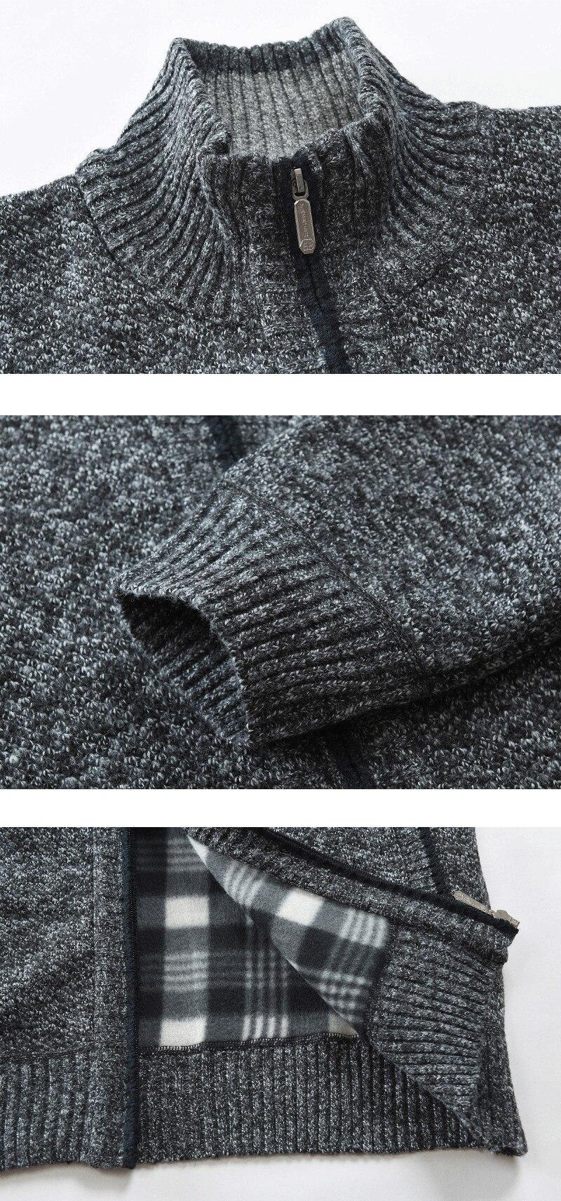 H97affe407dc2448e9e8ffcb38213266aj NEGIZBER 2019 Autumn Winter New Men's Jacket Slim Fit Stand Collar Zipper Jacket Men Solid Cotton Thick Warm Jacket Men