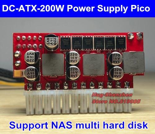 DC 12 В 200 Вт 24Pin Pico ATX переключатель psio PSU авто мини ITX модуль высокого питания ITX Z1 Поддержка NAS 4 SATA HDD тишина ноль