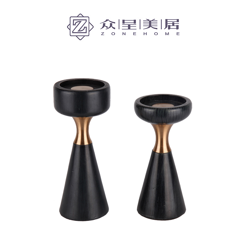 Simple Modern Candle Holder for Tea Lights Black Marble Wedding Candles Decoration Luxury Geometric Decor Bestselling GG50zt - 2