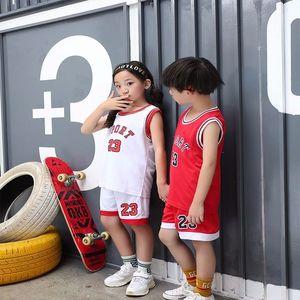 Детский спортивный баскетбольный трикотаж 23, дешевая баскетбольная рубашка для мальчиков, детская баскетбольная форма, баскетбольная корзина для команды, спортивная одежда
