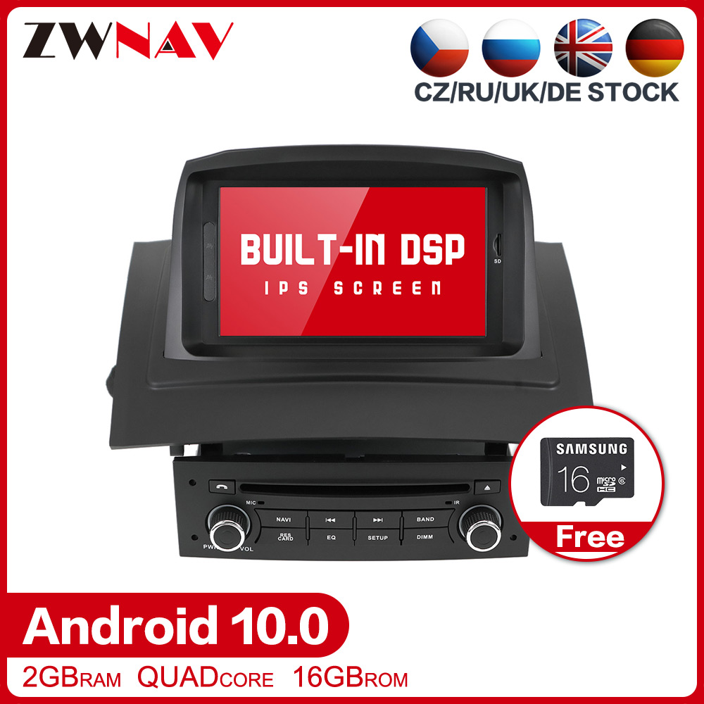 DSP Android 10.0 Car Stereo Multimedia Player <font><b>GPS</b></font> Glonass Navigation for Renault <font><b>Megane</b></font> <font><b>2</b></font> Fluence Video Radio head unit free map image