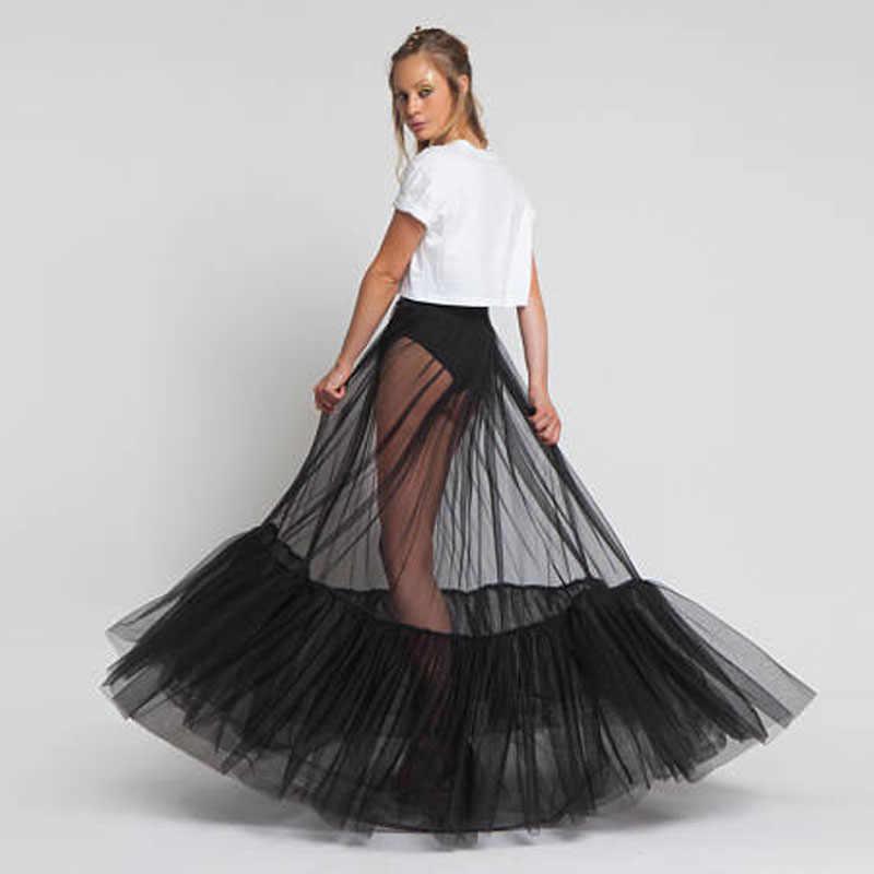 Xem Qua Nữ Voan Dự Tiệc Trang Trọng Váy Thời Trang Tùy Chỉnh Đen Váy Dài