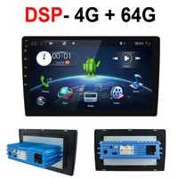 1 din Android 10,0 Octa Core PX6 Auto Radio Stereo GPS Navi Audio Video Player Einheit PC Wifi BT HDMI AMP 7851 OBD DAB + SWC 4G + 64G