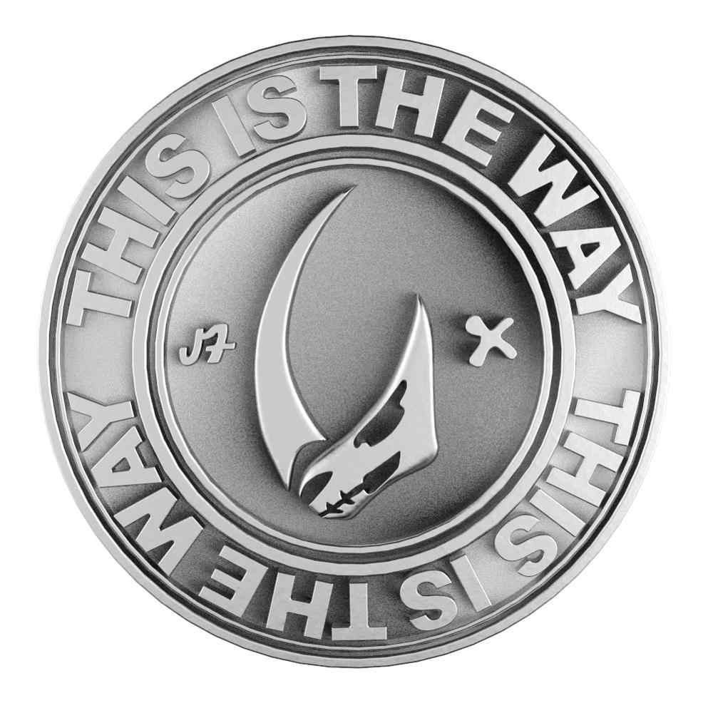 Xcoser-badge Star Wars, pièces de monnaie en argent, chasseur de primes, accessoires de Costume pour Collection Cosplay