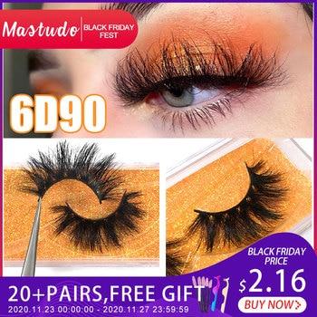 Mastudo 6D Mink Eyelashes Full Volume False Eyelash Reusable Lashes 25mm Fluffy Messy 3D Wholesale lashes minkMakeup