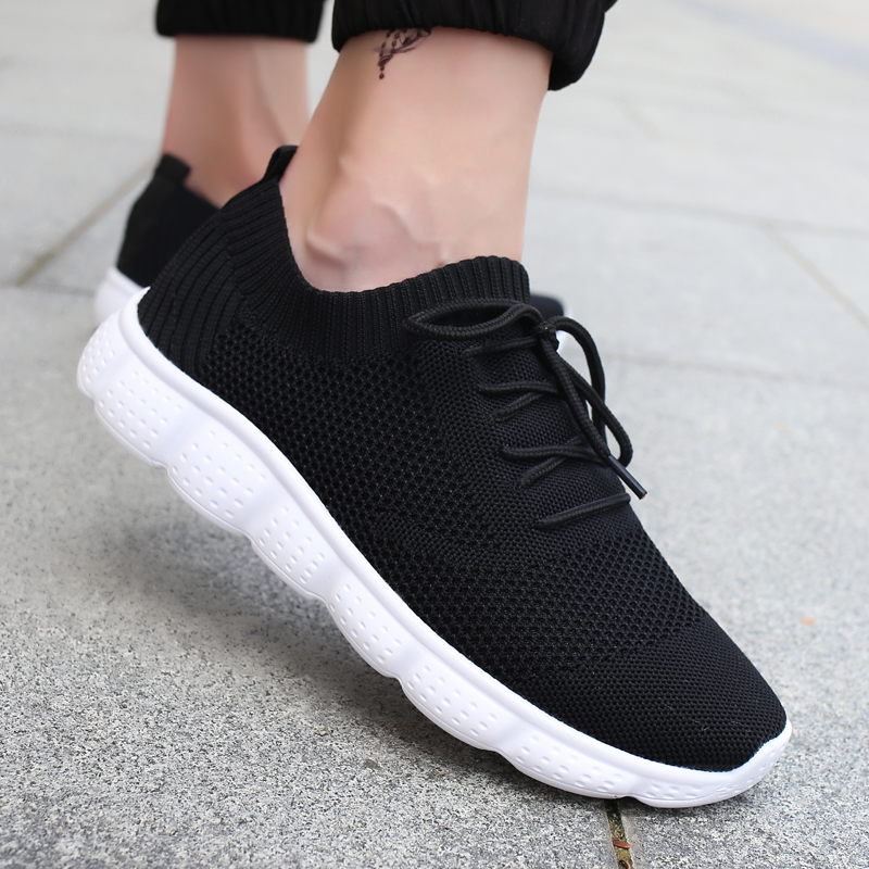 Running Shoes for Men Lace-up Running Sneakers Breathable Mesh Male Fitness Gym Sports Shoes High Quality Men's Shoes 39-46