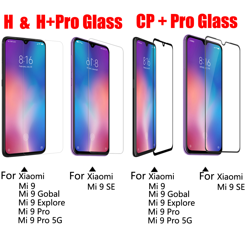 Image 2 - for Xiaomi Mi 9 Tempered Glass for xiaomi mi 9 SE Screen Protector NILLKIN Amazing H+PRO CP XD Glass film mi 9 Pro 5G Explore-in Phone Screen Protectors from Cellphones & Telecommunications on